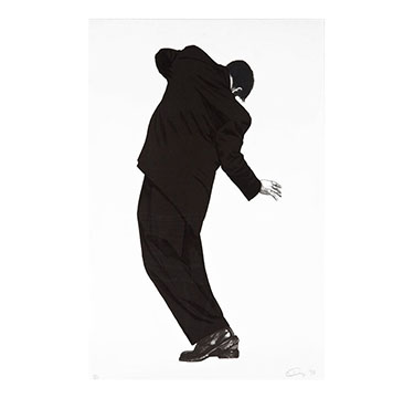 "Raphael (from Men in the Cities), Robert Longo, 1998. #13 of 120, Lithograph on Rives BFK paper, Signed and dated lower right; edition lower left, sheet 45.875"" x 30""; frame 52"" x 36"""