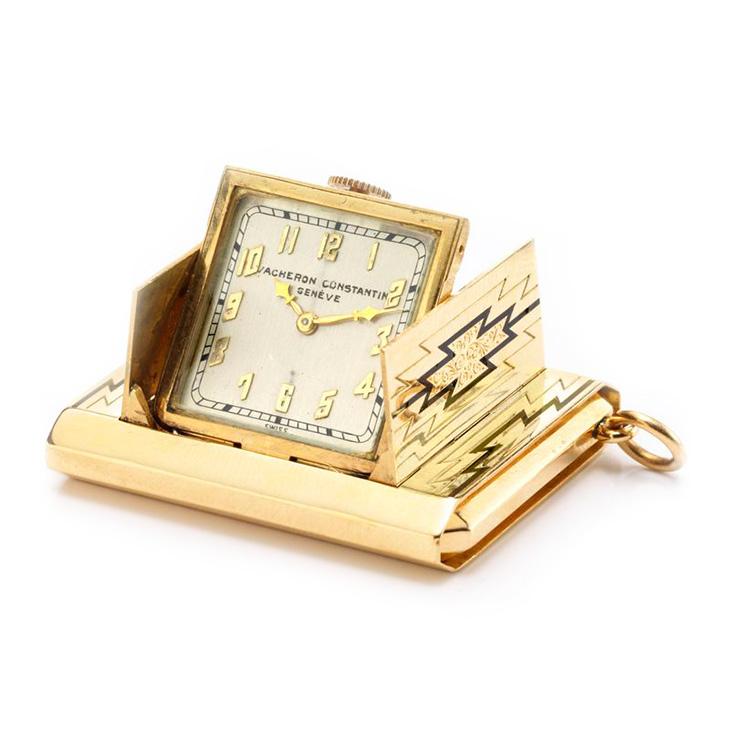 A Gold and Enamel Travel Clock, by Vacheron & Constantin
