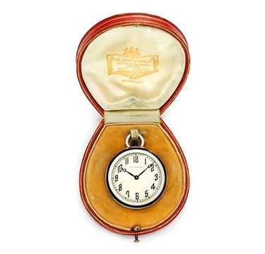 An Art Deco Diamond, Onyx and Platinum Pocket Watch, by Van Cleef & Arpels, circa 1930