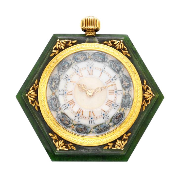 An Art Deco Zodiac Desk Clock, by Boucheron