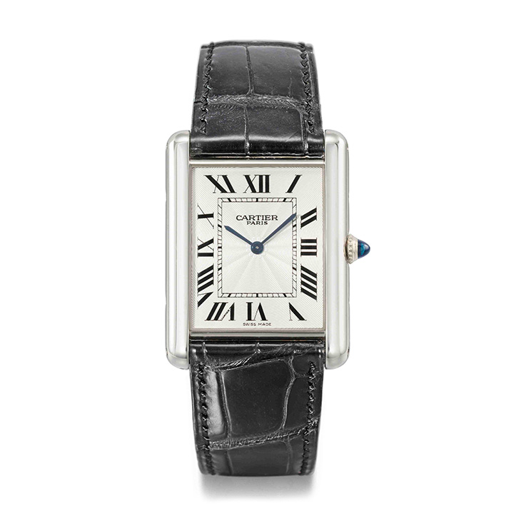 Cartier Limited Edition Platinum Tank Wristwatch