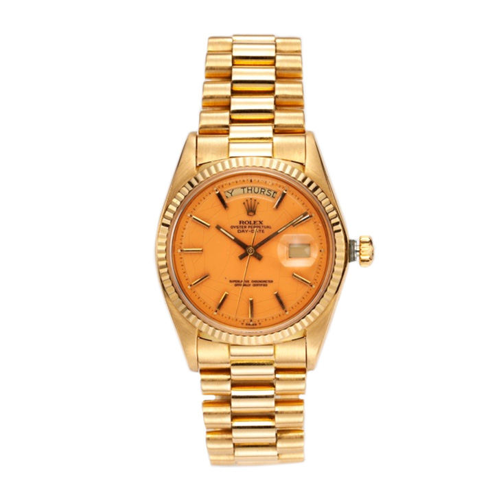 Rose Gold Day-Date President Rolex with Coral Dial, circa 1975