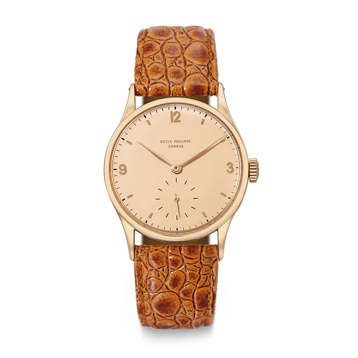 Patek Philippe: A Rose Gold Wristwatch Ref. 570, circa 1944