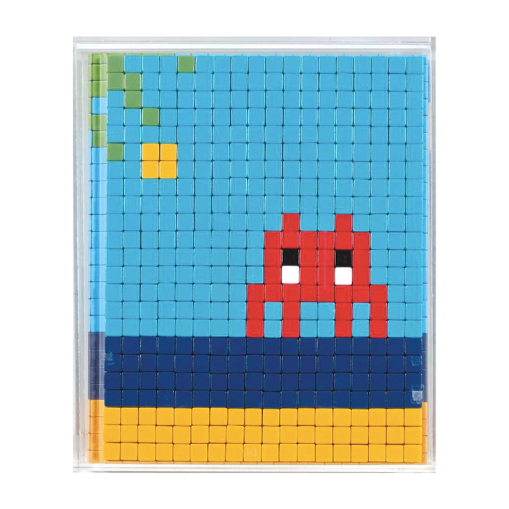 Invader, 'Mission Miami' Mosaic in a Plexiglass box, signed, dated and numbered on the back of mounting edition 08/50, circa 2012