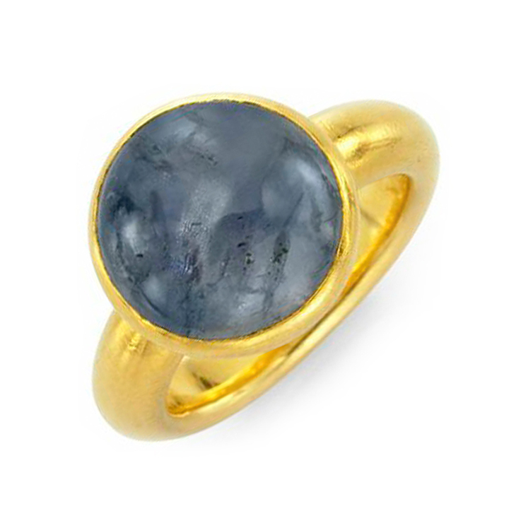 A Cabochon Sapphire and Gold Ring, by JAR