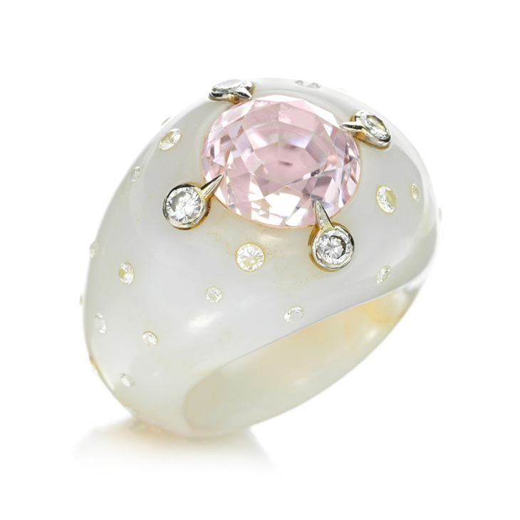A Kunzite, Diamond and Chalcedony, by JAR