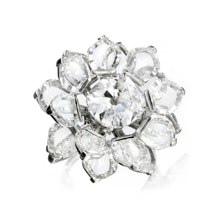 A Diamond Lotus ring, by Bhagat