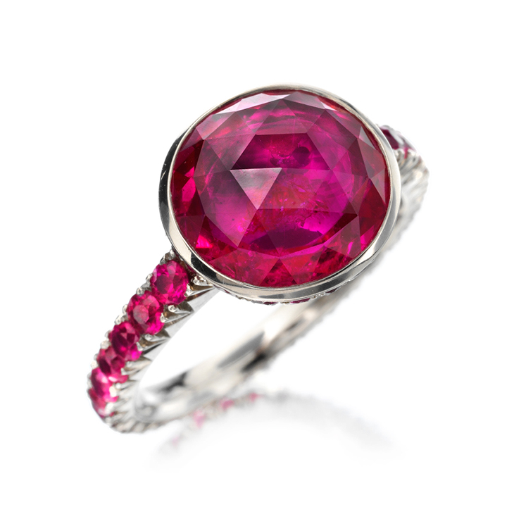A Rose-Cut Ruby Ring by Hemmerle
