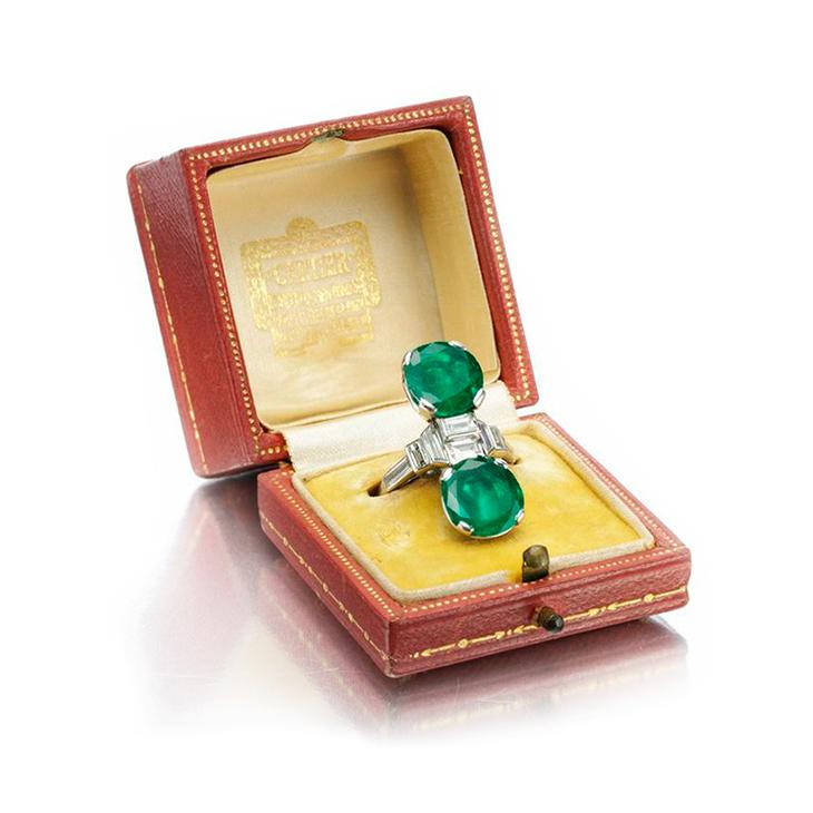 An Art Deco Emerald and Diamond Ring, by Cartier, circa 1920