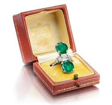 An Art Deco Emerald And Diamond Ring, By Cartier, Circa 1920