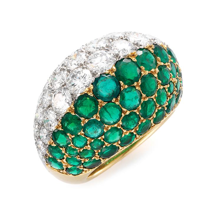 An Emerald and Diamond Ring, by Cartier, circa 1960