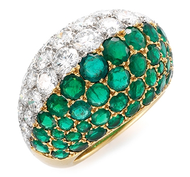 An Emerald And Diamond Ring, By Cartier, Circa 1960