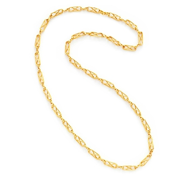 An 18k Gold Fancy Link Chain Necklace, By Cartier, Circa 1980