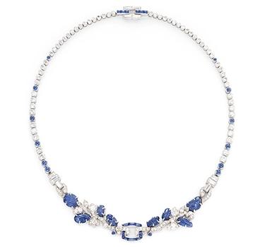 An Art Deco Sapphire And Diamond 'Tutti Frutti' Necklace, By Cartier, Circa 1930