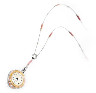 A Belle Epoque Watch Pendant Necklace, by Cartier, circa 1910