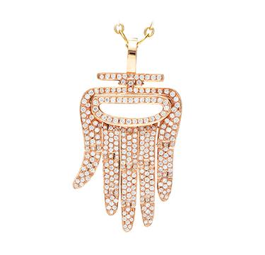 An 18k Rose Gold and Diamond 'Hamsa' Pendant, by Aldo Cipullo, Cartier