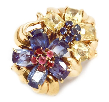 A Retro Sapphire And Ruby 'Hawaii' Ring, By Van Cleef & Arpels, Circa 1940