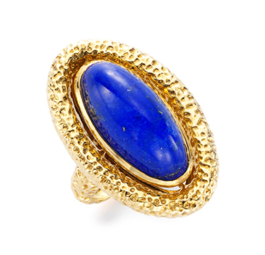 A Lapis Lazuli and Gold Ring, by Van Cleef & Arpels, circa 1975