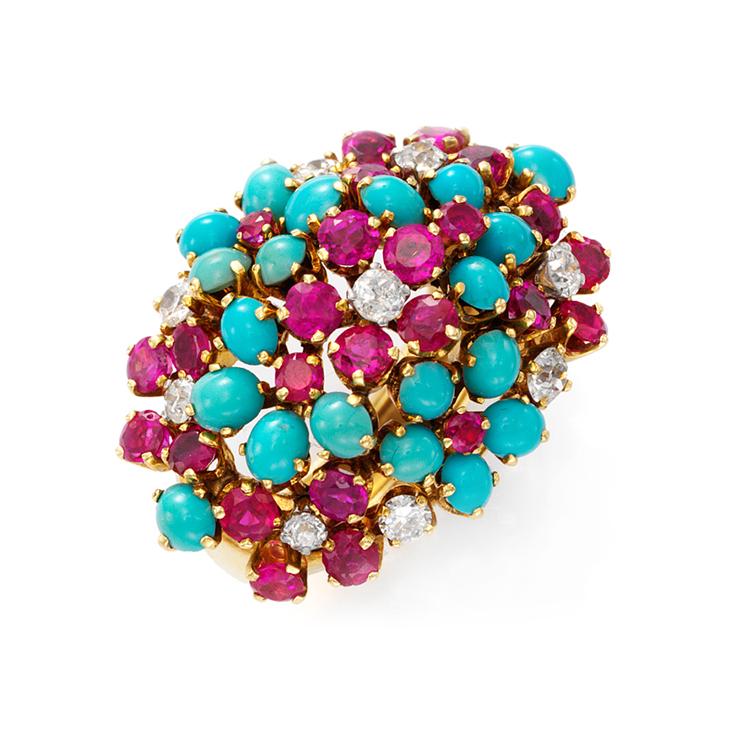 A Multi-gem and Diamond 'Hawaii' Ring, by Van Cleef & Arpels