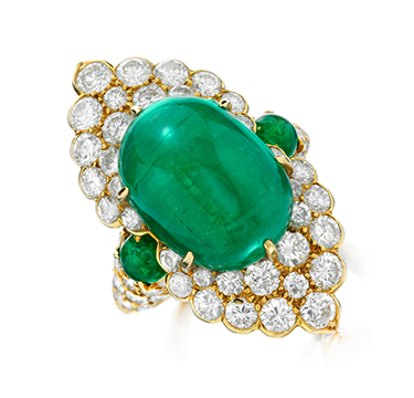 An Emerald and Diamond Ring, by Van Cleef & Arpels, circa 1970
