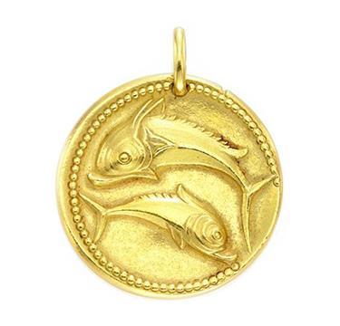 A Gold Pisces Zodiac Pendant, by Van Cleef & Arpels, circa 1970