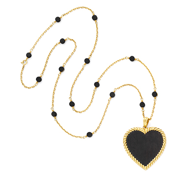 An Ebony and Gold Pendant Necklace, by Van Cleef & Arpels