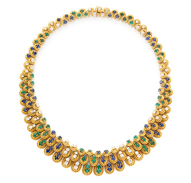 A Sapphire, Emerald and Diamond Necklace, by Van Cleef & Arpels, circa 1965