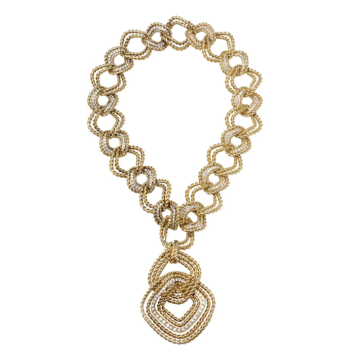 A Gold and Diamond Necklace, by Van Cleef & Arpels, circa 1975