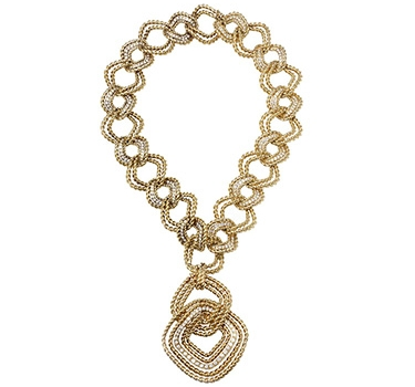 A Gold And Diamond Necklace, Circa 1975