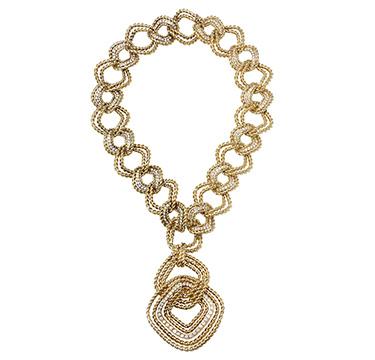 A Gold and Diamond Necklace, circa 1975