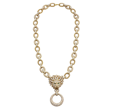 A Diamond and Gold Lion Necklace, by Van Cleef & Arpels, circa 1970