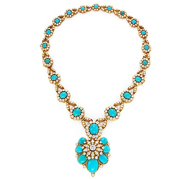 A Turquoise, Diamond And Gold Necklace, By Van Cleef & Arpels, Circa 1965