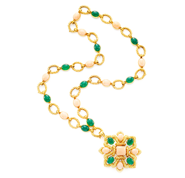 Chrysoprase and Gold Sautoir, by Van Cleef & Arpels, circa 1975