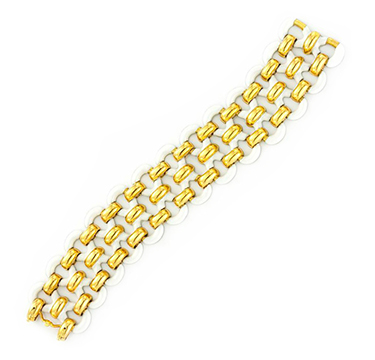 An Enamel and Gold Bracelet, by Van Cleef & Arpels, circa 1970