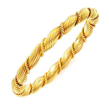 A Gold Braided Bangle, by Van Cleef & Arpels, circa 1970