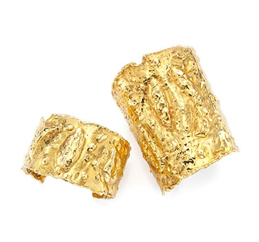 Two Etruscan-style Gold Cuffs, By Van Cleef & Arpels, Circa 1975