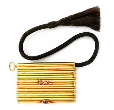 A Ceremonial Gold Cigarette Case, by Cartier, circa 1920