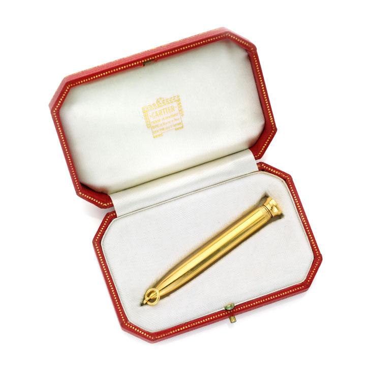 A Gold Pencil Pendant, by Cartier, circa 1950
