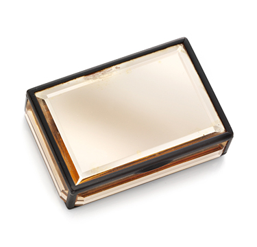 A Gold and Lacquered Vanity Case, by Cartier