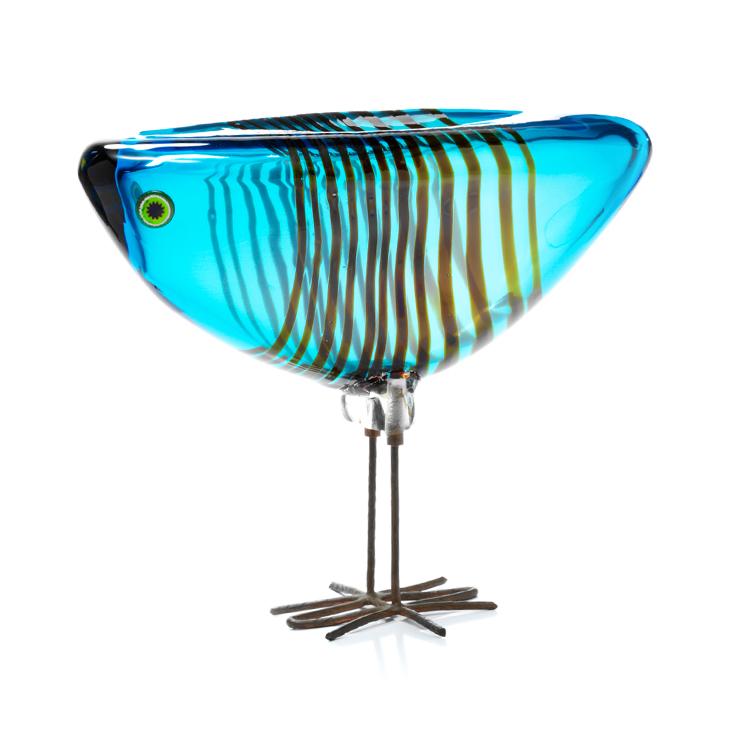 """Alessandro Pianon, handblown glass figure (bird/Pulcini), Vistosi, designed 1962, 6.75"""" x 8.5"""" x 3.5"""""""