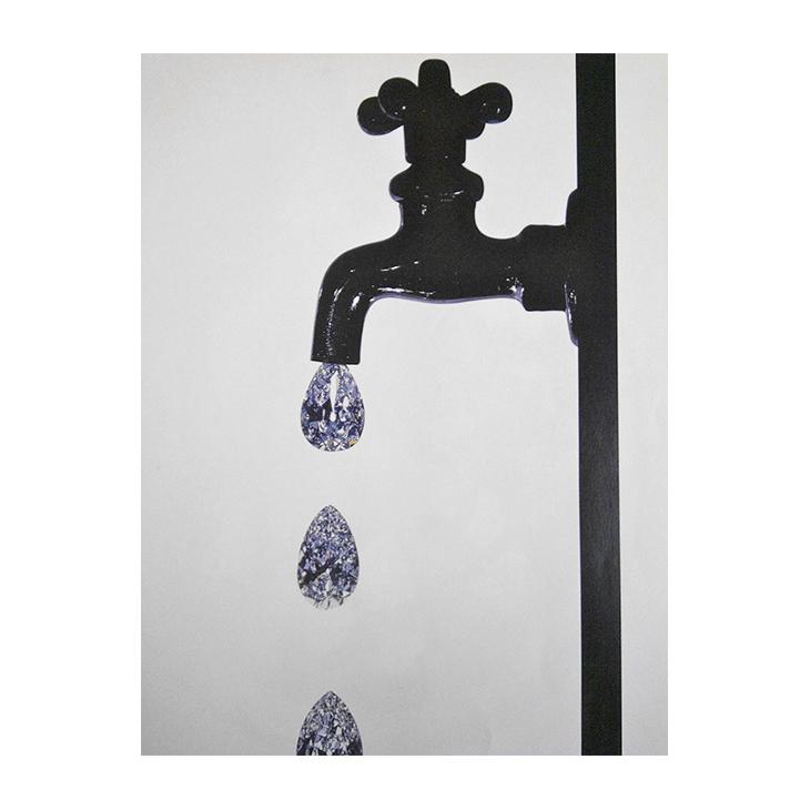 Irving Penn, Faucet Dripping Diamonds, New York, 1963