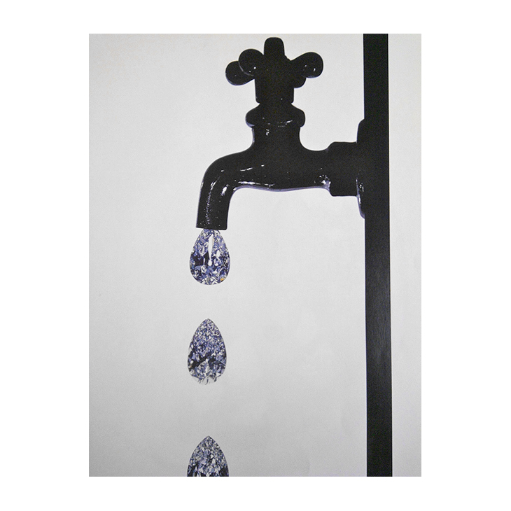 Irving Penn, Faucet Dripping Diamonds, New York, 1963