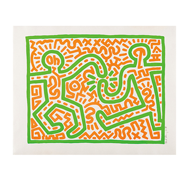Untitled, 1983, by Keith Haring, edition of 60