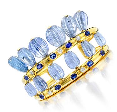 A Sapphire and Diamond Cuff Bracelet, by Suzanne Belperron