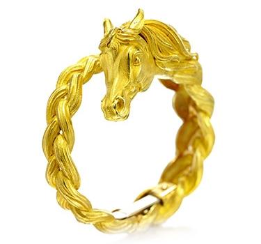 A Gold Horse Bracelet, By Hermes, Circa 1960