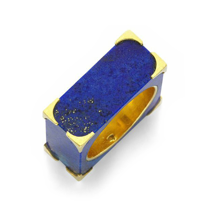 A Lapis Lazuli and Gold Ring, by Tiffany & Co., circa 1965