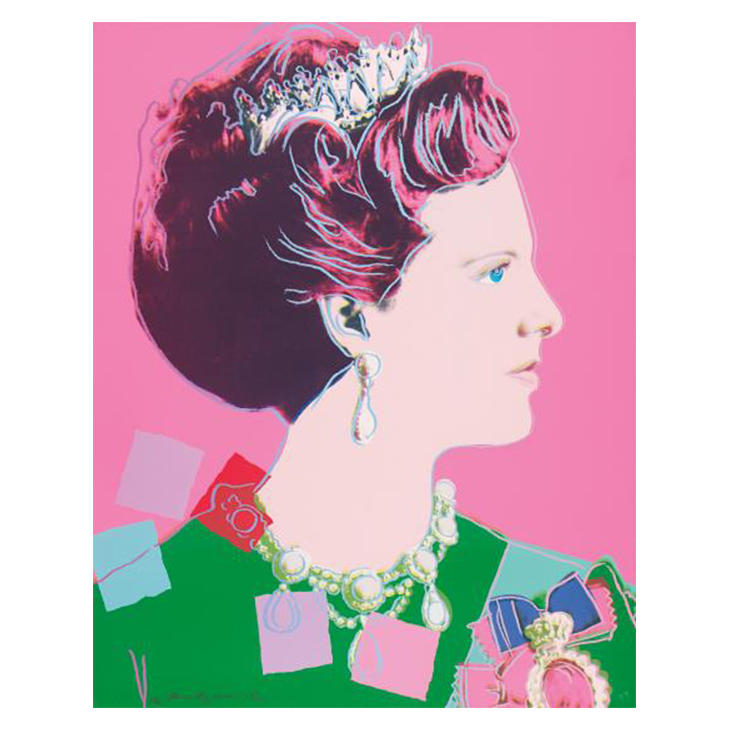 Andy Warhol, Queen Margrethe II, from Reigning Queens, 1985