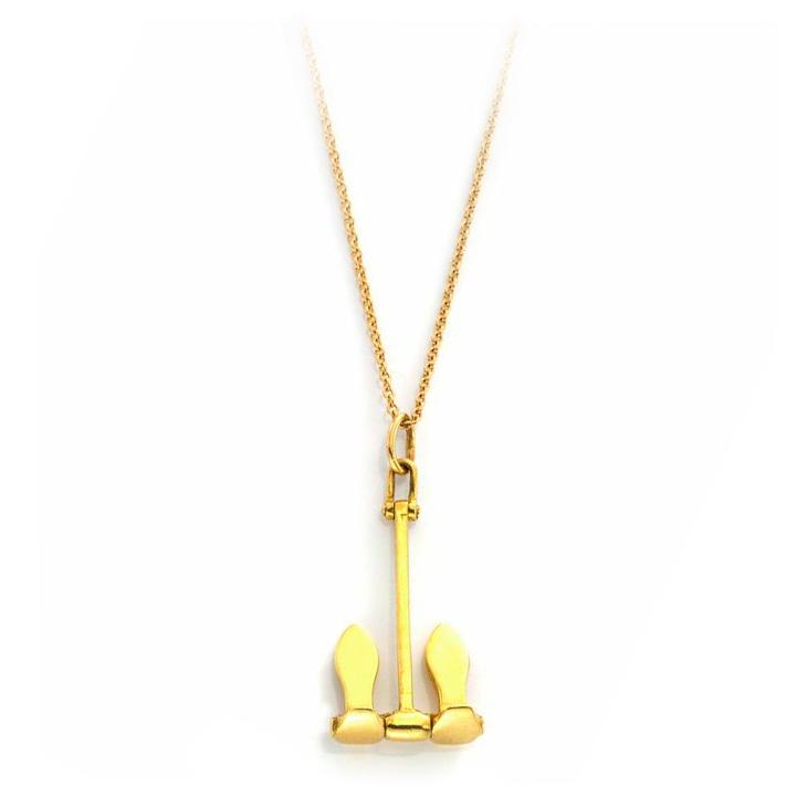 A Gold Anchor Pendant Necklace, by Tiffany & Co., circa 1970