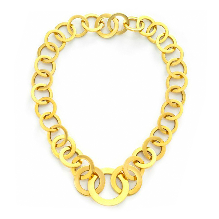 An 18k Gold Chain Link Necklace, circa 1970