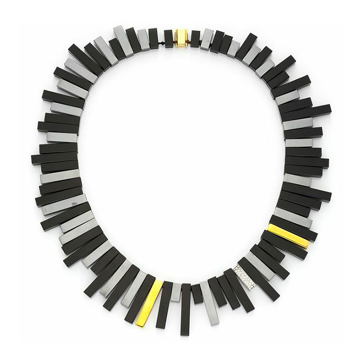 A Hematite, Diamond and Gold Necklace, by Angela Cummings, Tiffany & Co.
